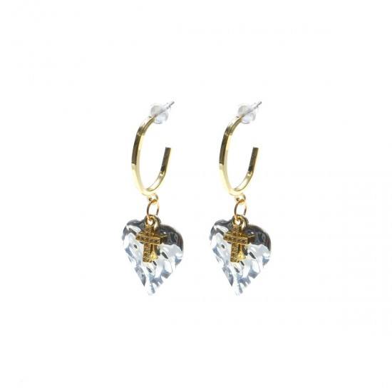 Σκουλαρίκια - Ασημί-Χρυσό